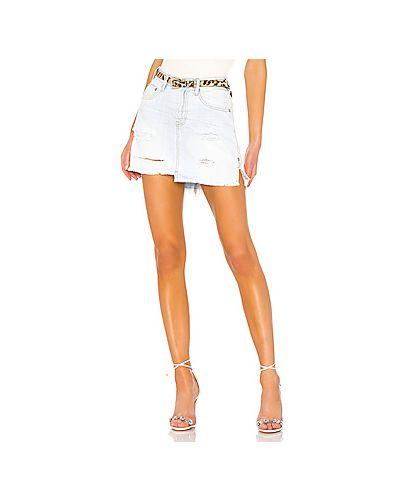 Юбка мини джинсовая на пуговицах One Teaspoon