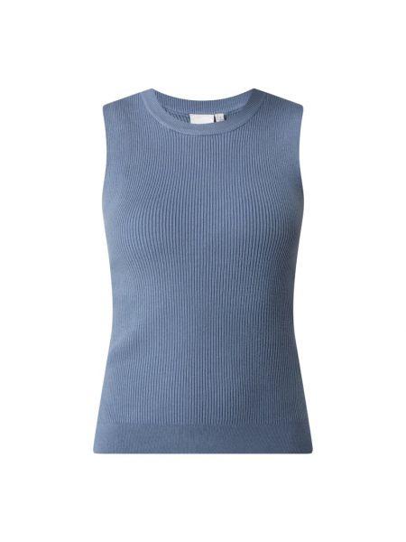 Prążkowana niebieska kamizelka z nylonu Ichi