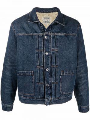 Синяя джинсовая куртка длинная Levi's®  Made & Crafted™