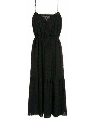 Черное платье без рукавов НК