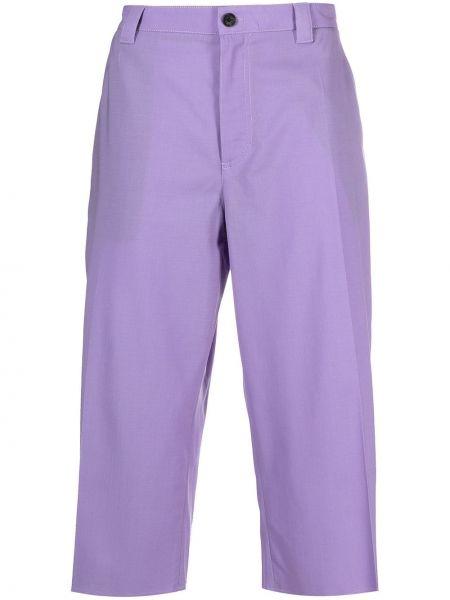 Przycięte spodnie, fioletowy Versace