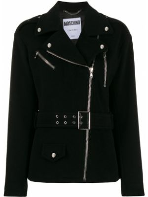 Куртка черная на молнии Moschino