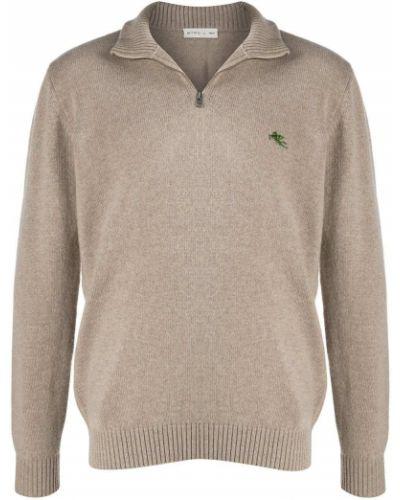С рукавами пуловер на молнии с воротником Etro