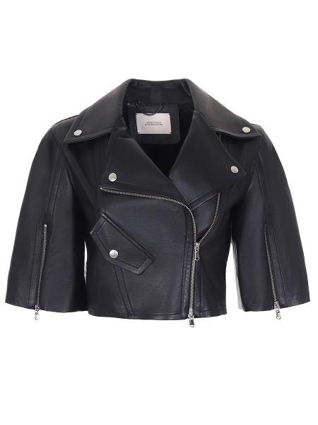 Кожаная куртка на молнии укороченная Dorothee Schumacher
