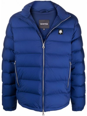 Синяя куртка с перьями Duvetica