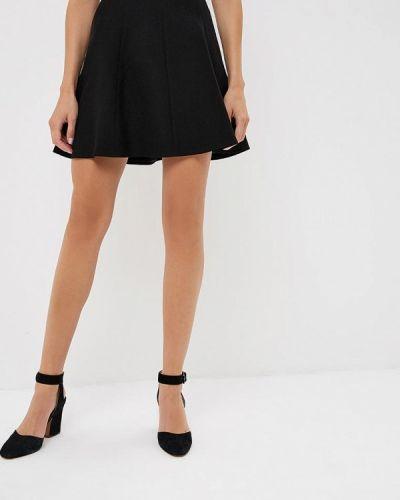 Черная юбка широкая Naf Naf