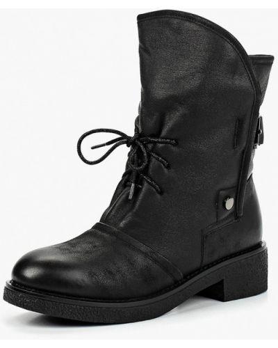 Кожаные ботинки осенние черные Teetspace