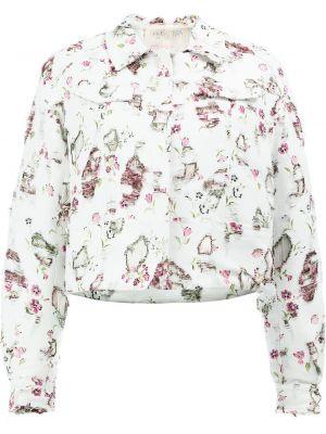 Хлопковая белая куртка Giambattista Valli
