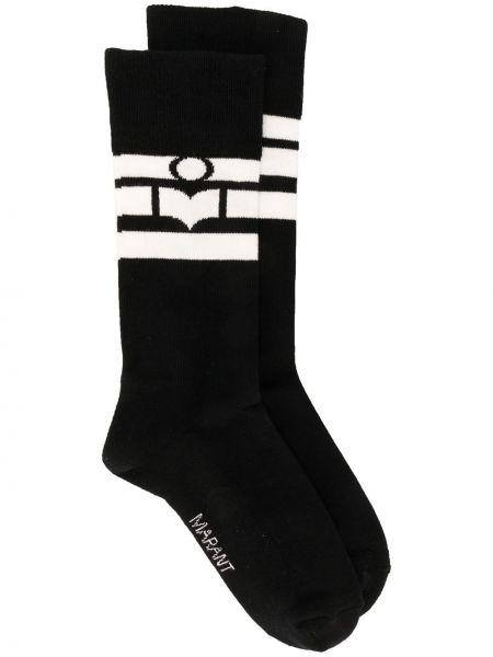 Черные хлопковые вязаные носки Isabel Marant
