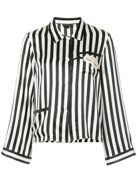 Шелковая рубашка - белая Morgan Lane