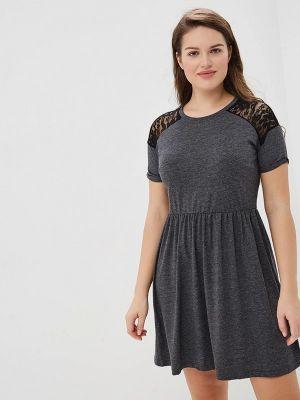 Платье серое футболка Yumi