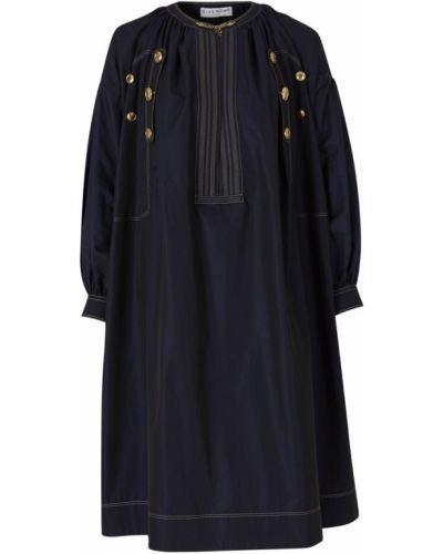 Niebieska złota sukienka midi na co dzień Givenchy