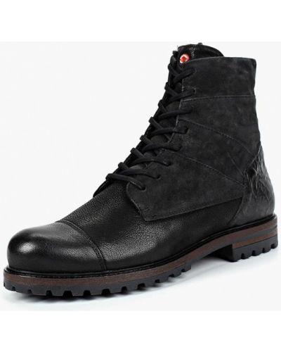 Ботинки осенние кожаные высокие Nobrand