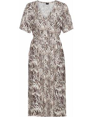 Платье с поясом платье-рубашка с карманами Bonprix