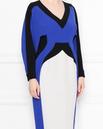 Платье миди со вставками приталенное Marina Rinaldi