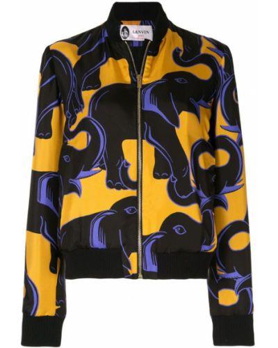 Черная куртка с манжетами Lanvin