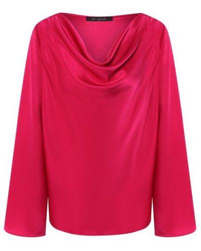 Блузка розовый шелковая St. John