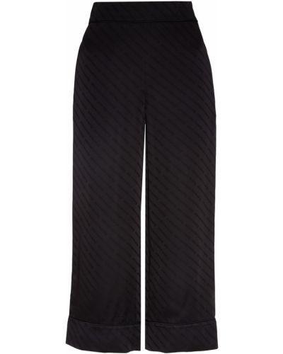 Свободные брюки из вискозы с отворотами Alexander Wang