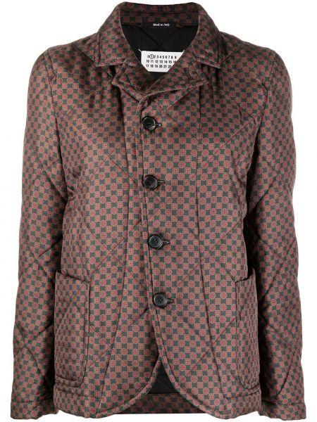 Классическая прямая черная длинная куртка с воротником Maison Margiela