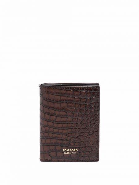 Кожаный кошелек - коричневый Tom Ford