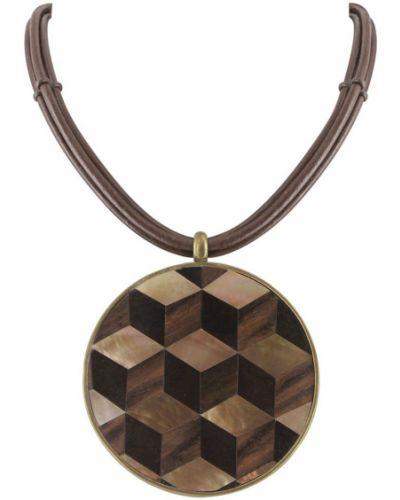 Ожерелье черное коричневый Nature Bijoux