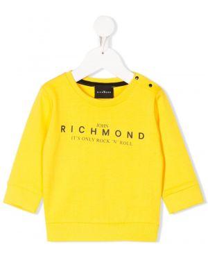 Свитшот желтый с логотипом John Richmond Junior