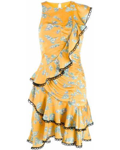 Платье с цветочным принтом с вырезом Three Floor