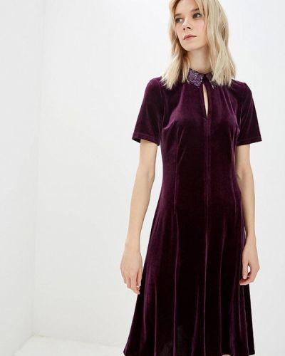 Вечернее платье осеннее фиолетовый Gregory