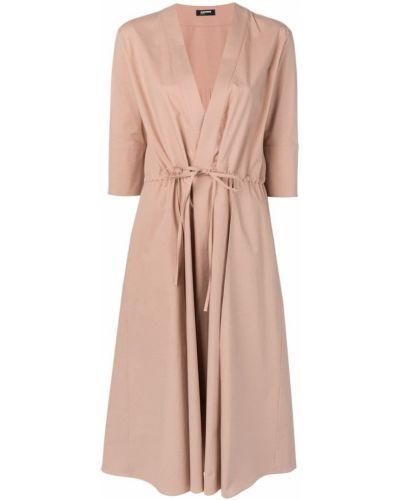 Платье с поясом с запахом на пуговицах Jil Sander Navy