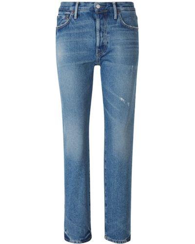Klasyczne niebieskie jeansy z wysokim stanem Acne Studios