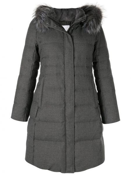 Пуховое пальто с капюшоном с опушкой Loveless