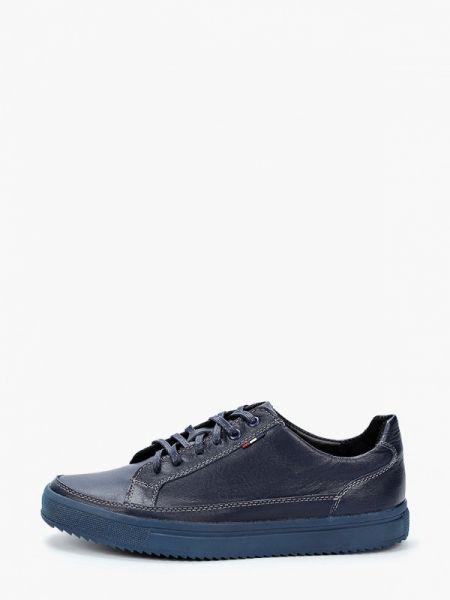 Кожаные синие кроссовки Alessio Nesca