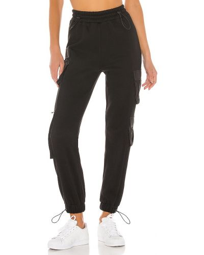 Czarne spodnie bawełniane Danielle Guizio