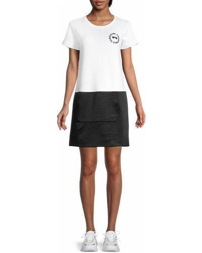 Черное купальное платье с короткими рукавами с карманами Karl Lagerfeld
