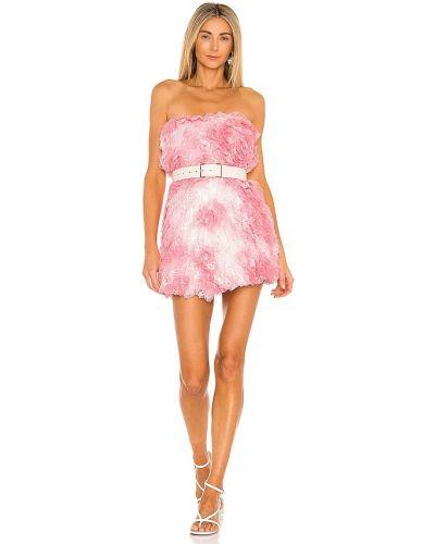 Różowa sukienka na imprezę elegancka tiulowa Loveshackfancy
