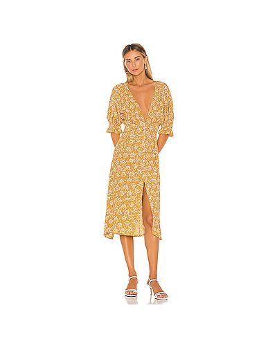 Платье на пуговицах шелковое Faithfull The Brand