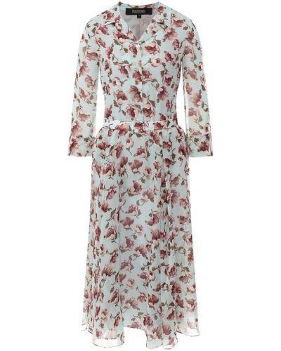Платье миди с принтом Poustovit