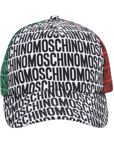 Baseball z paskiem kapelusz z gabardyny Moschino