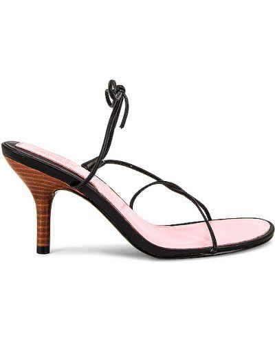 Czarne sandały skorzane Jaggar