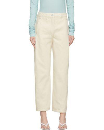 Niebieski prosto jeansy z kieszeniami Lemaire