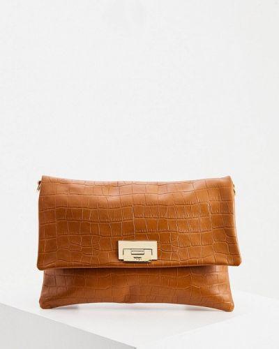 Коричневая сумка через плечо из натуральной кожи Hogl