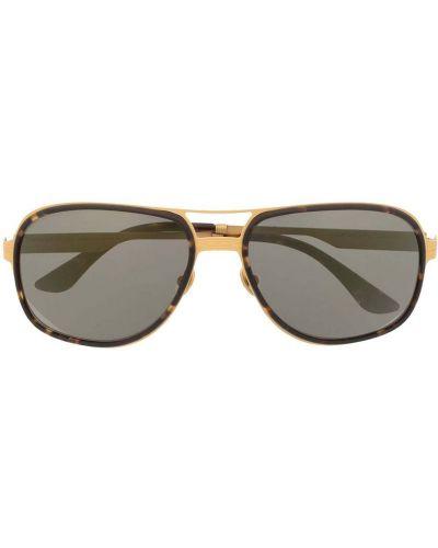 Золотистые желтые солнцезащитные очки Stefano Ricci