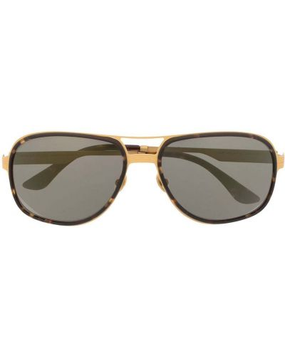 Żółte złote okulary Stefano Ricci