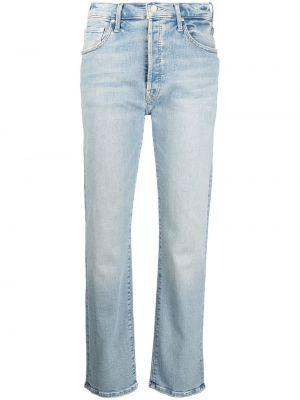 Синие джинсовые прямые джинсы Mother