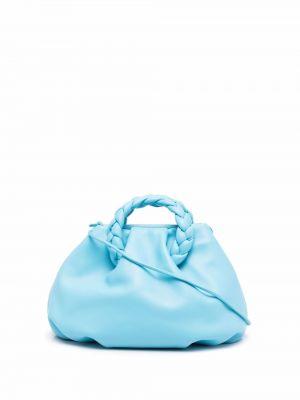 Niebieska torba na ramię skórzana Hereu