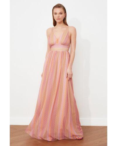 Sukienka wieczorowa w paski Trendyol