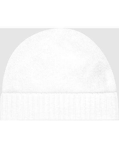 Бежевая кашемировая шапка Allude