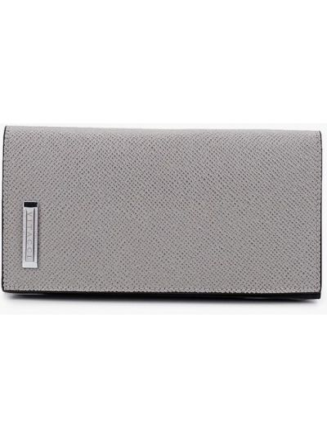 Кожаный кошелек - серый Vitacci