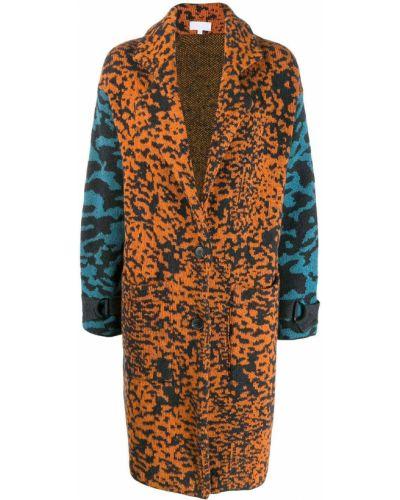 Коралловое длинное пальто с воротником с пряжкой Lala Berlin