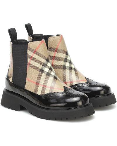 Beżowy buty z prawdziwej skóry zabytkowe Burberry Kids